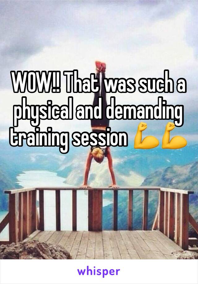 WOW!! That was such a physical and demanding training session 💪💪