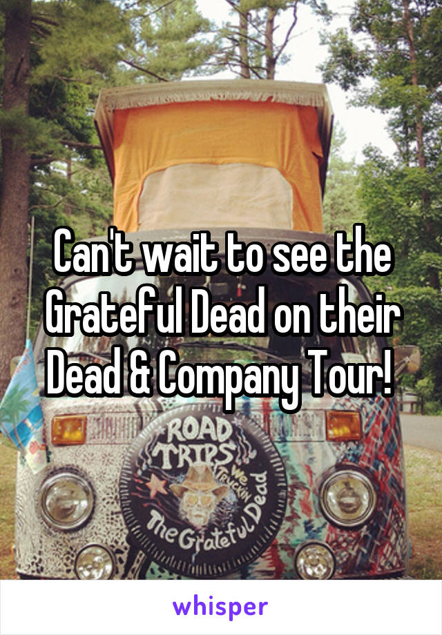 Can't wait to see the Grateful Dead on their Dead & Company Tour!