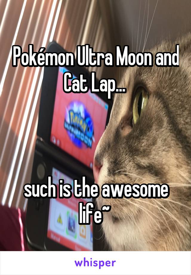 Pokémon Ultra Moon and Cat Lap...     such is the awesome life~