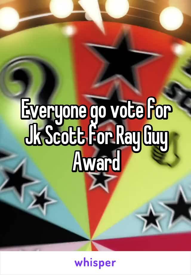 Everyone go vote for Jk Scott for Ray Guy Award