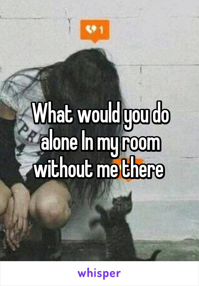 What would you do alone In my room without me there