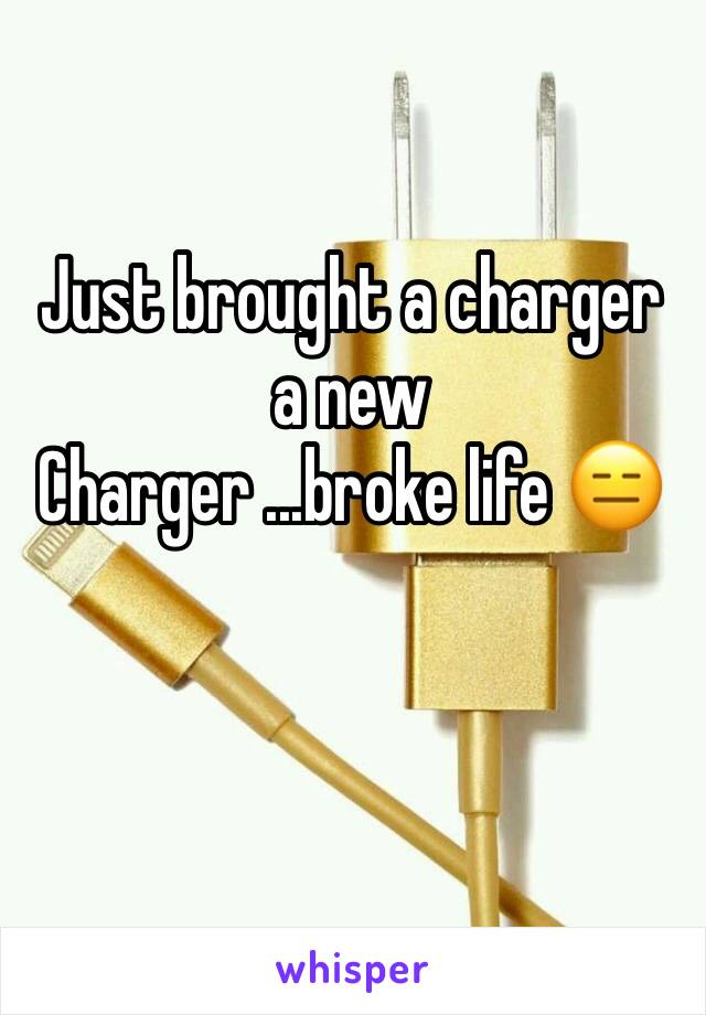 Just brought a charger a new Charger ...broke life 😑