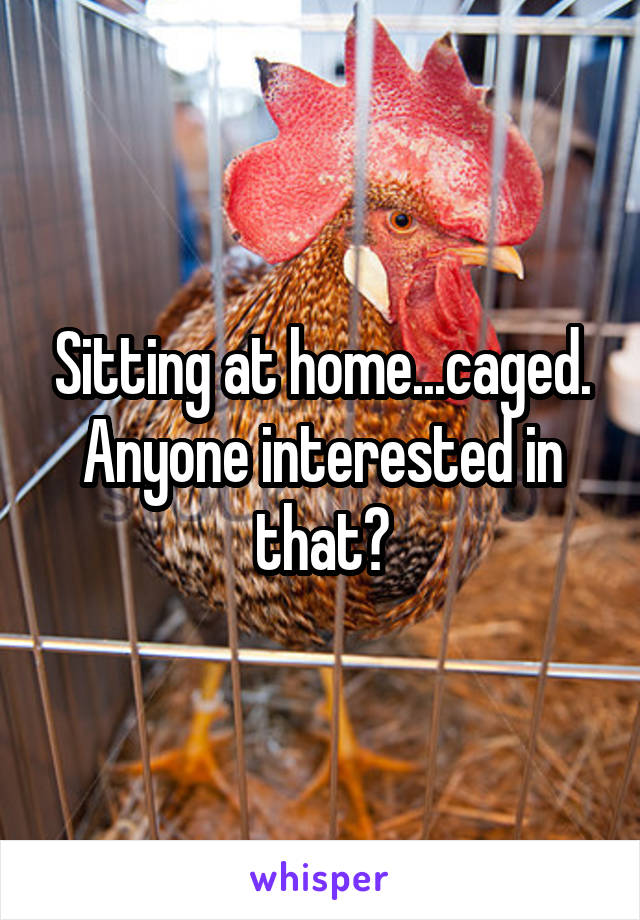 Sitting at home...caged. Anyone interested in that?