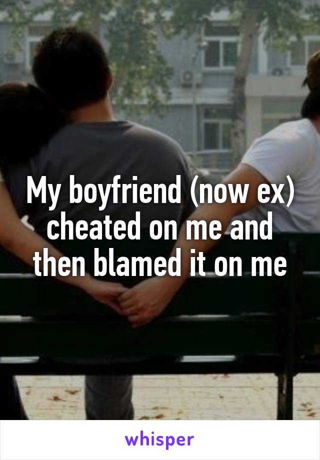 My boyfriend (now ex) cheated on me and then blamed it on me