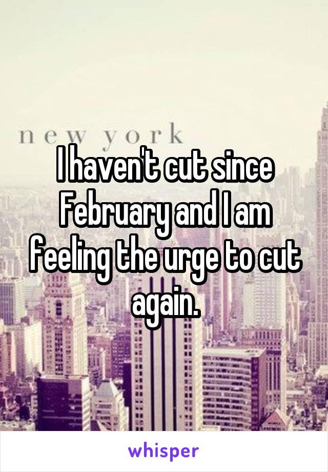 I haven't cut since February and I am feeling the urge to cut again.