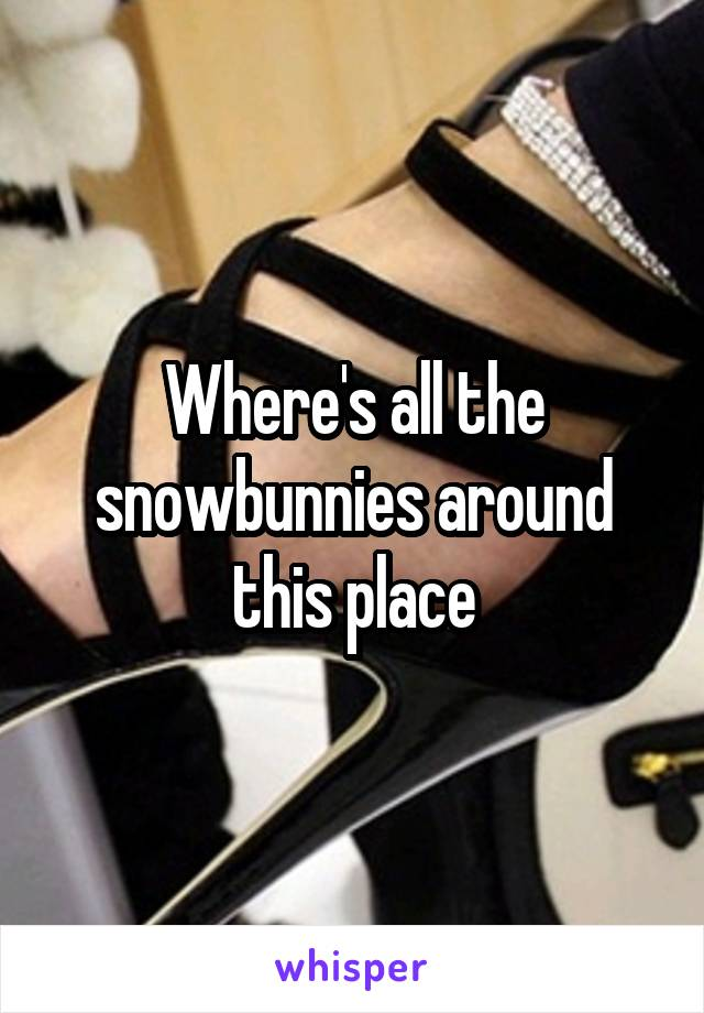 Where's all the snowbunnies around this place