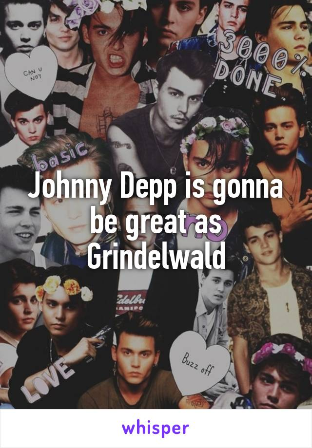 Johnny Depp is gonna be great as Grindelwald