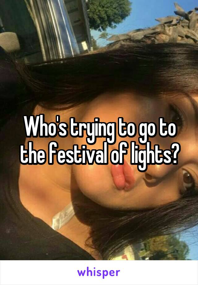 Who's trying to go to the festival of lights?