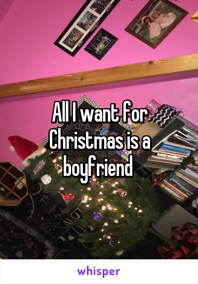 All I want for Christmas is a boyfriend