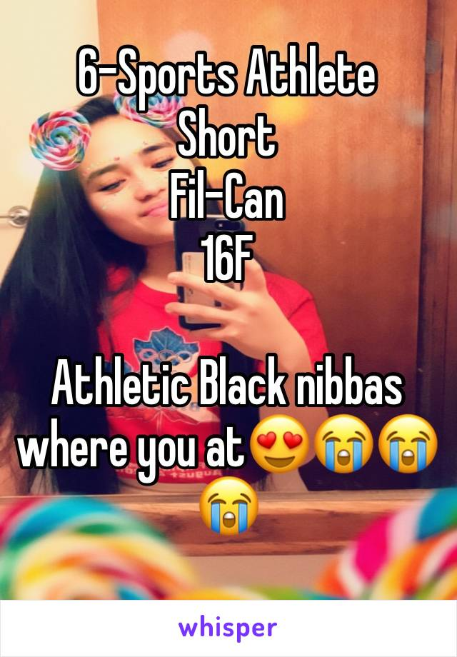 6-Sports Athlete Short Fil-Can 16F  Athletic Black nibbas where you at😍😭😭😭