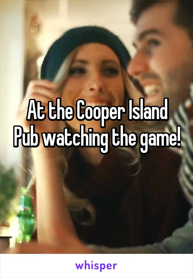 At the Cooper Island Pub watching the game!