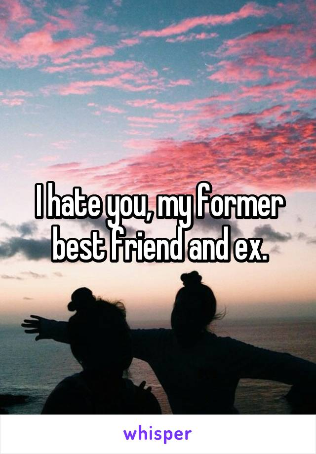 I hate you, my former best friend and ex.