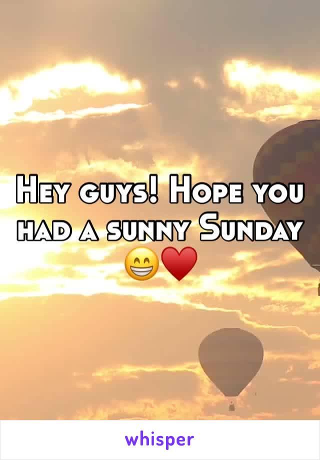 Hey guys! Hope you had a sunny Sunday 😁♥️