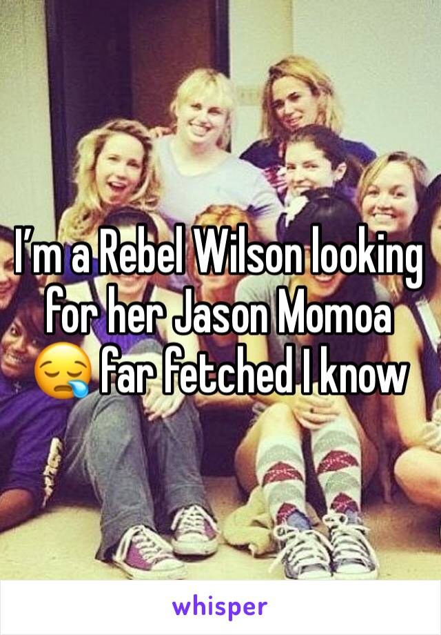 I'm a Rebel Wilson looking for her Jason Momoa 😪 far fetched I know
