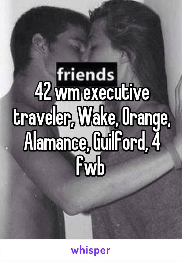 42 wm executive traveler, Wake, Orange, Alamance, Guilford, 4 fwb