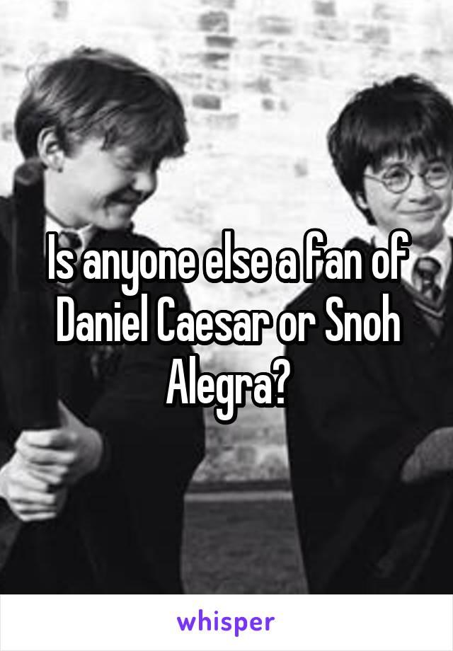 Is anyone else a fan of Daniel Caesar or Snoh Alegra?