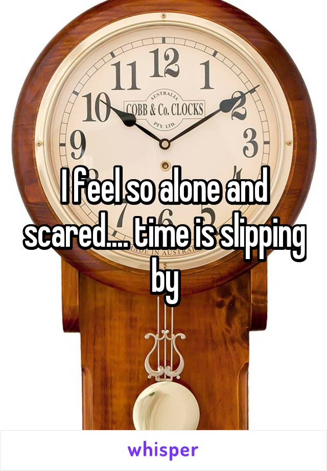 I feel so alone and scared.... time is slipping by