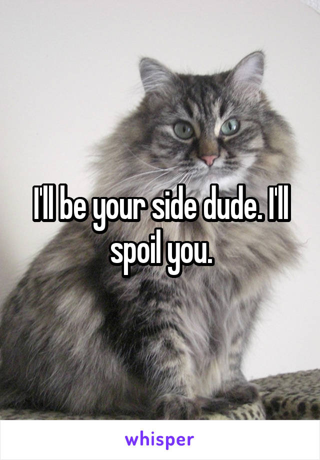 I'll be your side dude. I'll spoil you.