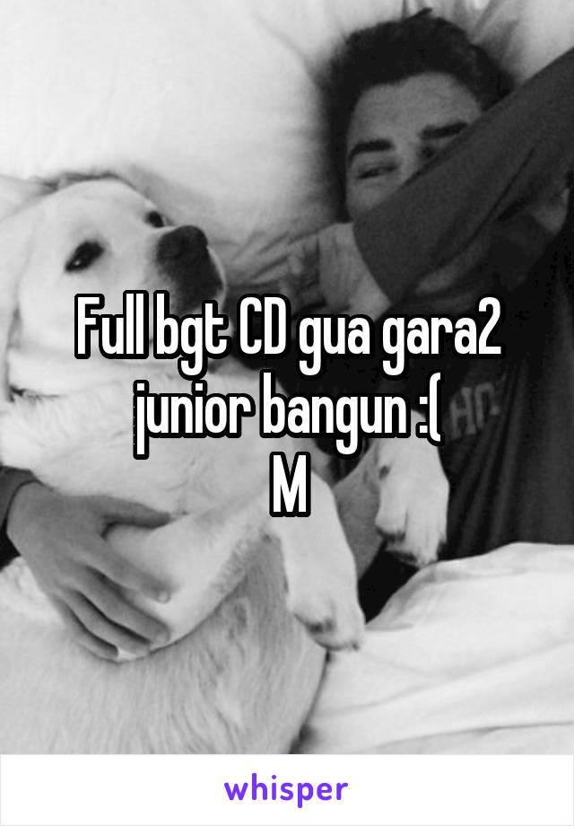 Full bgt CD gua gara2 junior bangun :( M