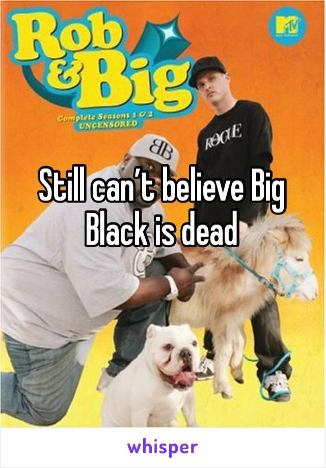 Still can't believe Big Black is dead