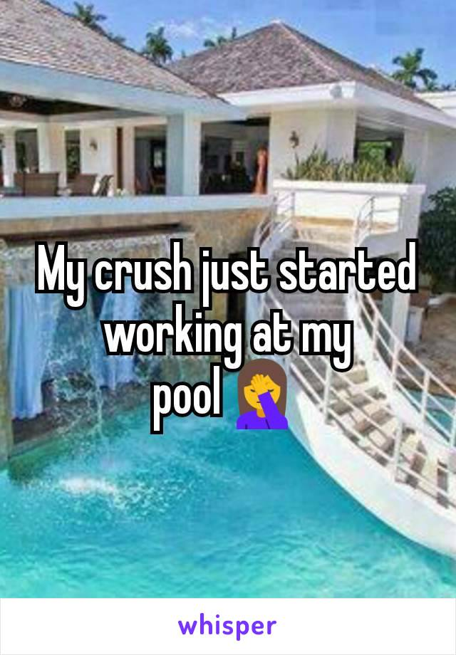 My crush just started working at my pool🤦