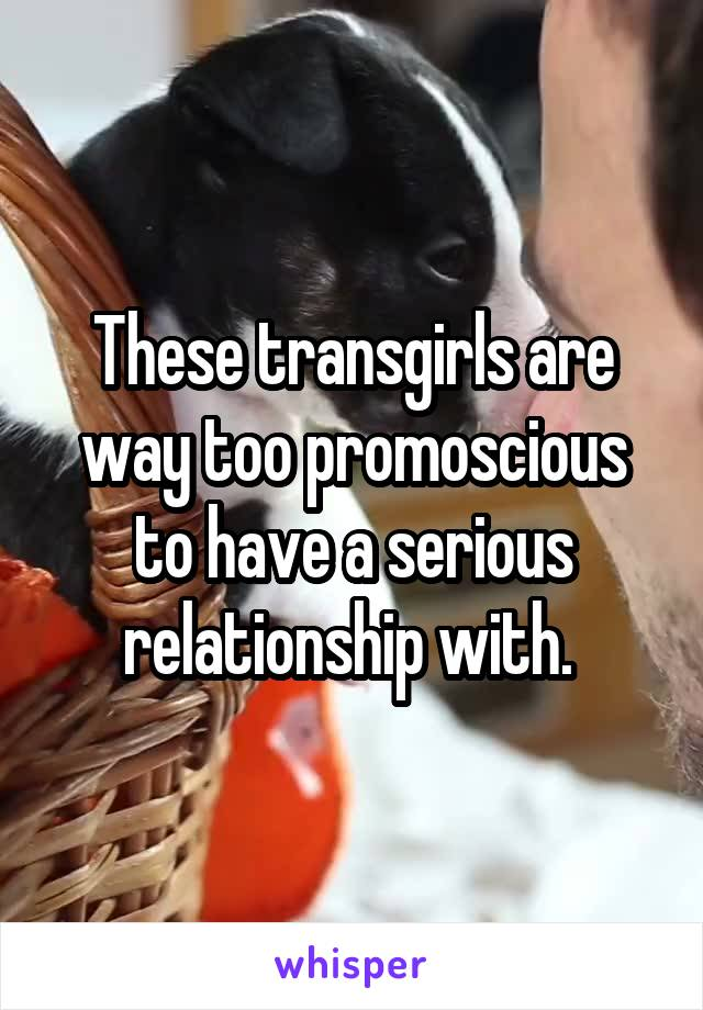 These transgirls are way too promoscious to have a serious relationship with.