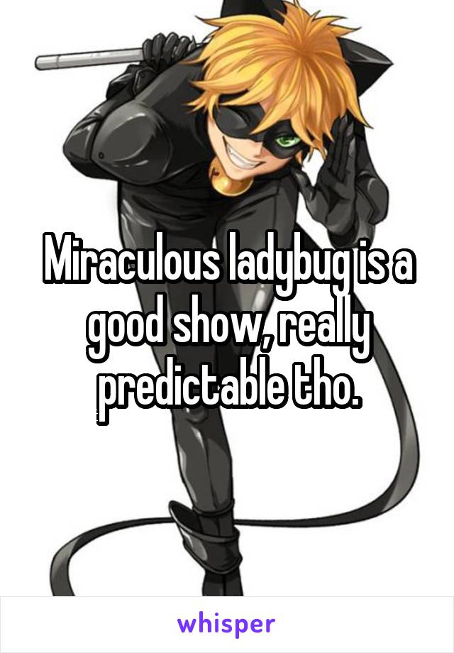 Miraculous ladybug is a good show, really predictable tho.