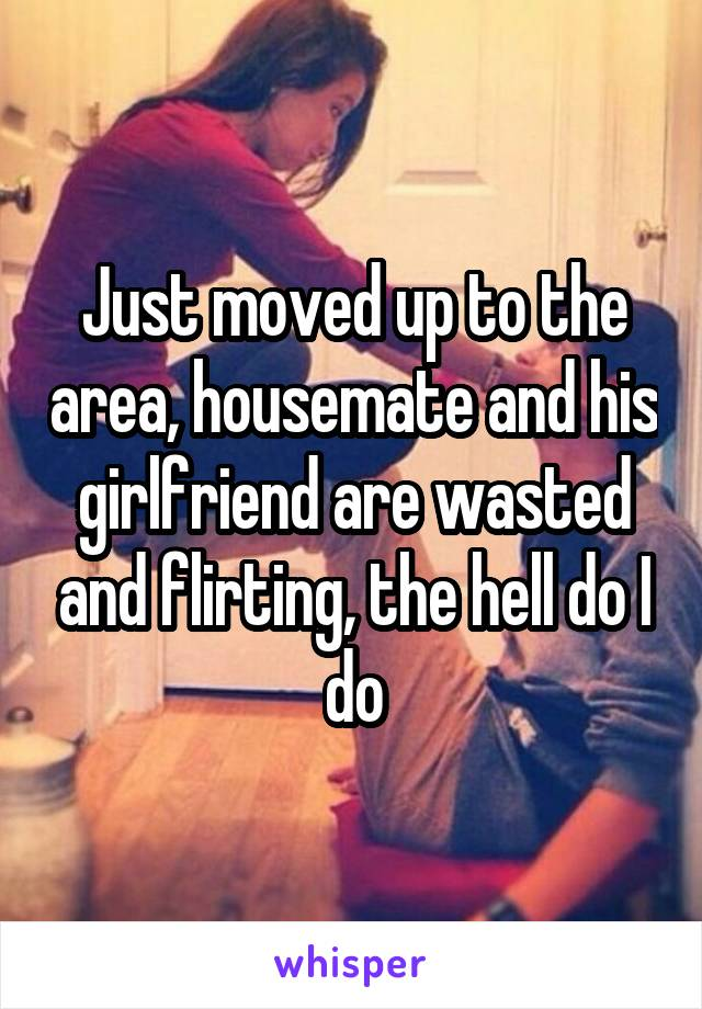 Just moved up to the area, housemate and his girlfriend are wasted and flirting, the hell do I do