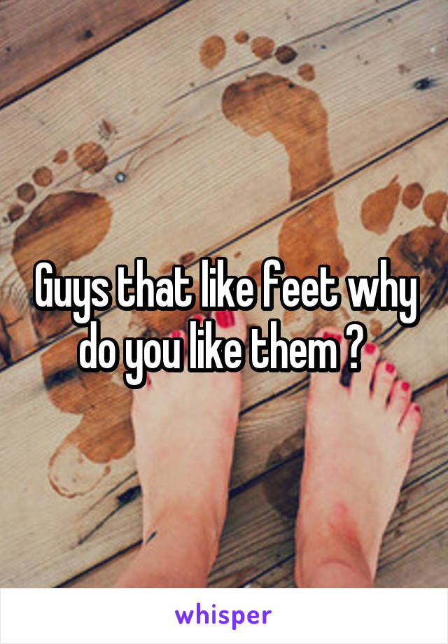 Guys that like feet why do you like them ?
