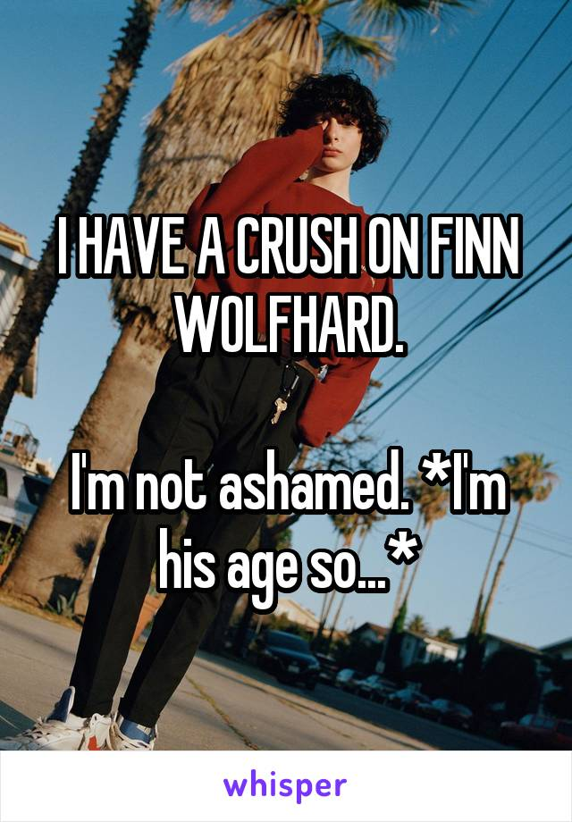 I HAVE A CRUSH ON FINN WOLFHARD.  I'm not ashamed. *I'm his age so...*