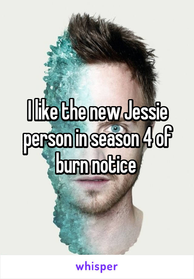 I like the new Jessie person in season 4 of burn notice