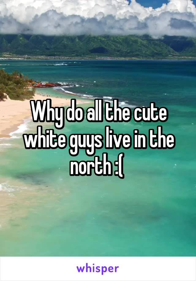 Why do all the cute white guys live in the north :(