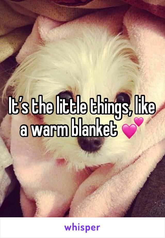 It's the little things, like a warm blanket 💕