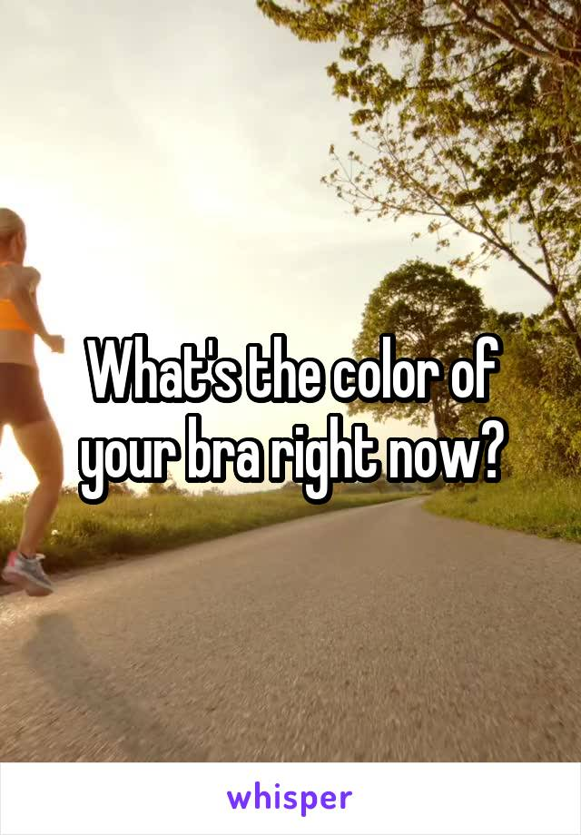 What's the color of your bra right now?