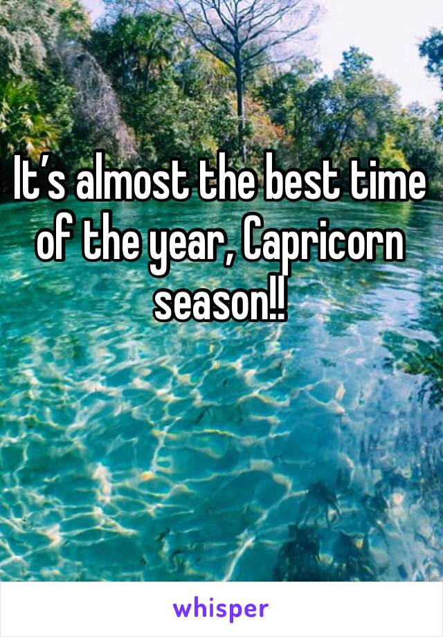 It's almost the best time of the year, Capricorn season!!