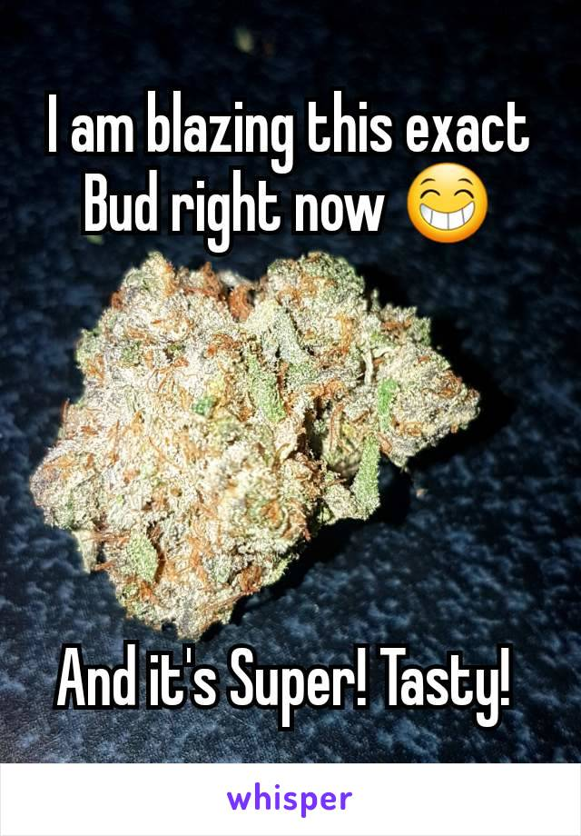 I am blazing this exact Bud right now 😁      And it's Super! Tasty!