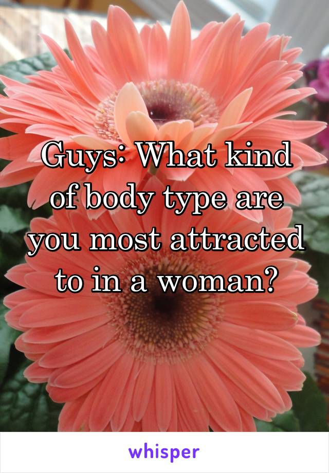 Guys: What kind of body type are you most attracted to in a woman?