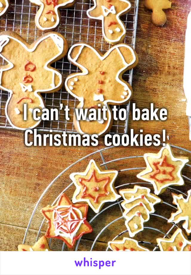 I can't wait to bake Christmas cookies!