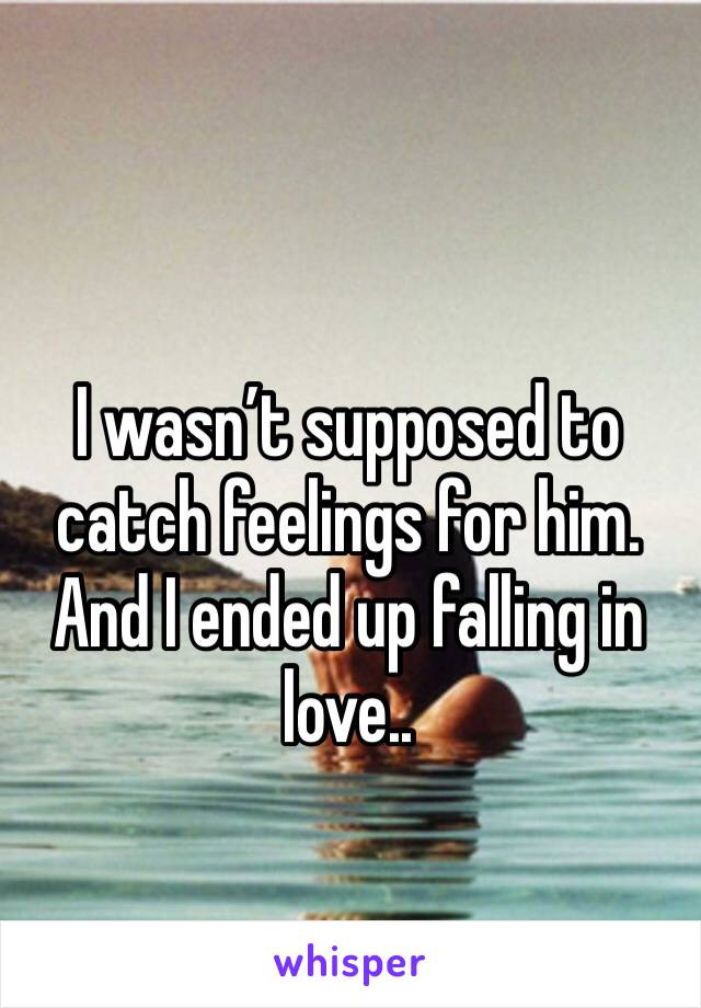 I wasn't supposed to catch feelings for him. And I ended up falling in love..