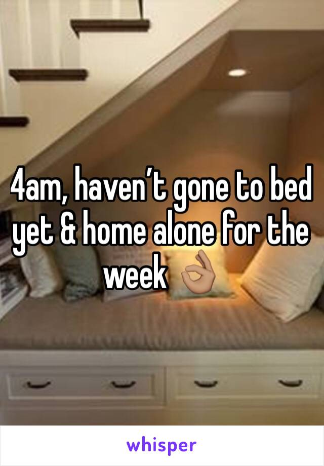 4am, haven't gone to bed yet & home alone for the week 👌🏽