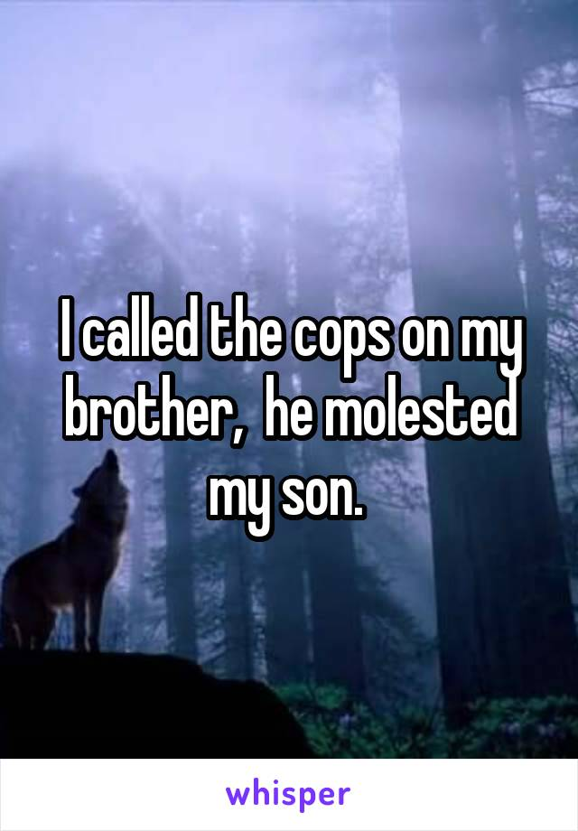 I called the cops on my brother,  he molested my son.