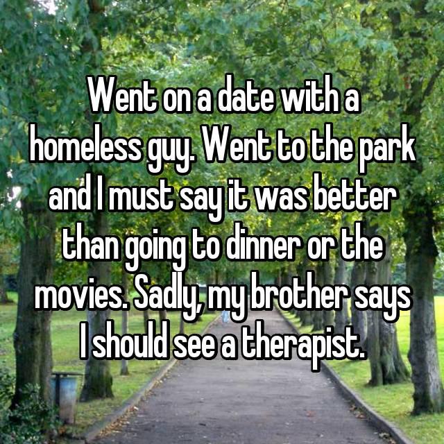 Dating someone homeless