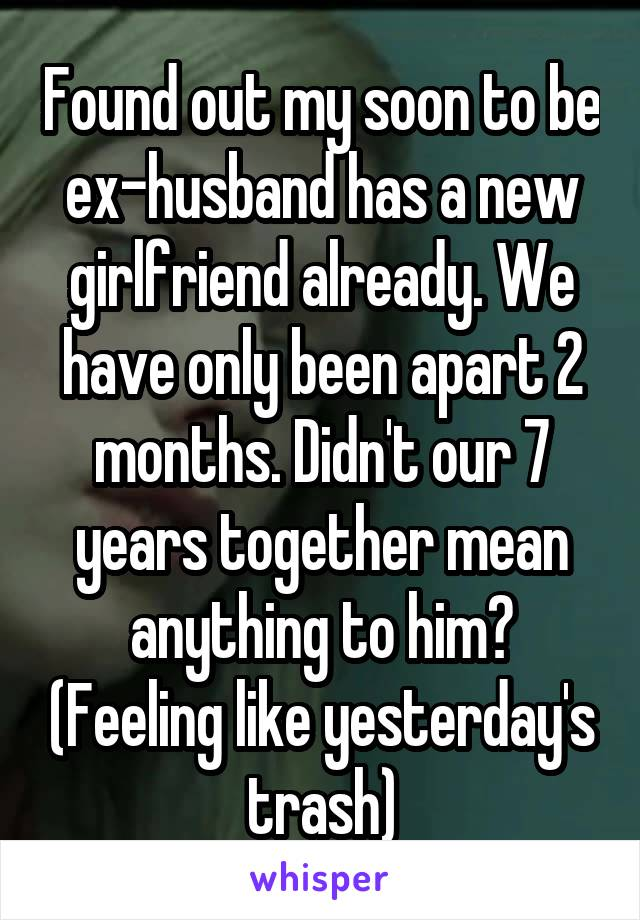 how to deal with ex husband having a girlfriend