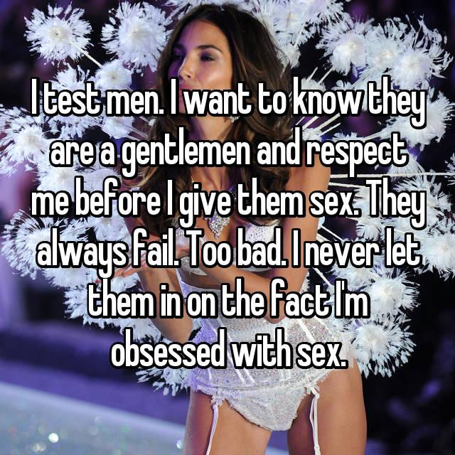 women test men