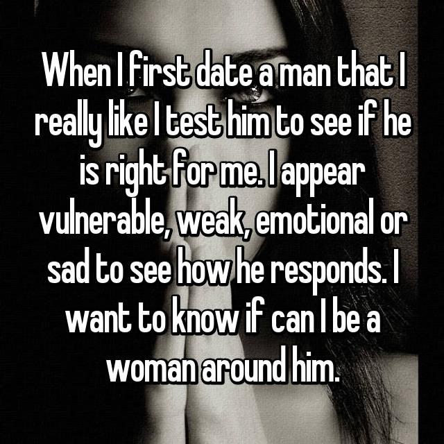 How men test women when dating
