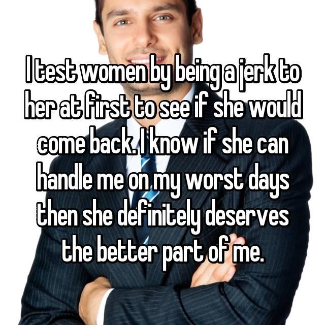 Do men test women