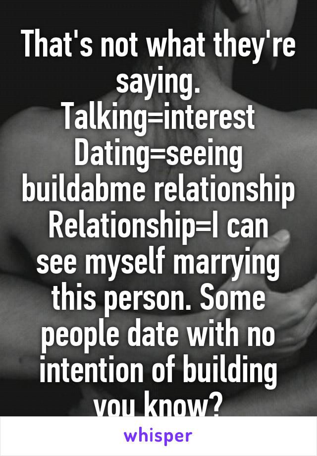 seeing dating relationship