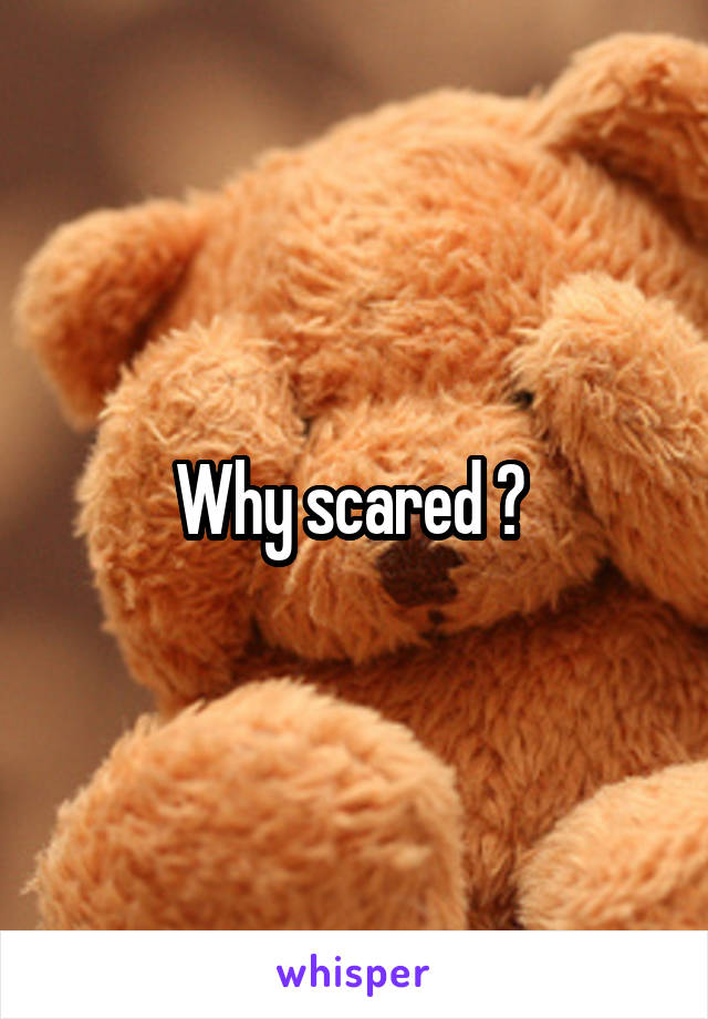 Why scared ?
