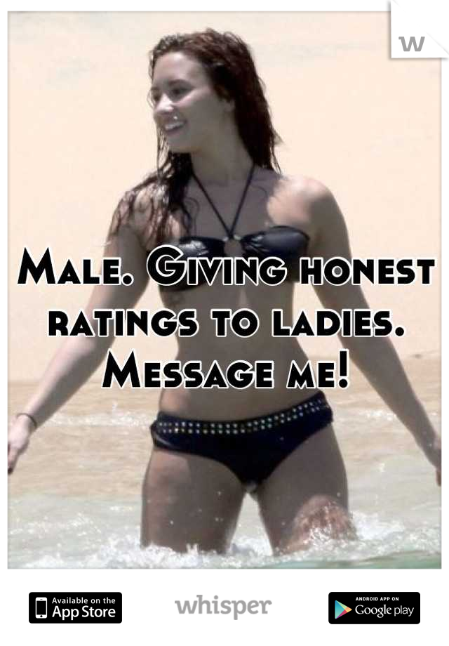 Male. Giving honest ratings to ladies. Message me!