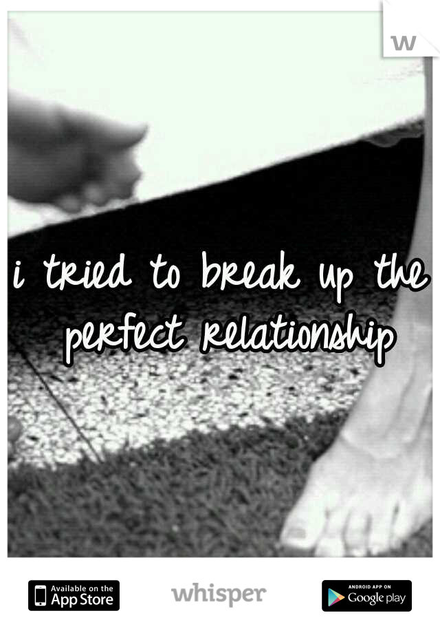 i tried to break up the perfect relationship